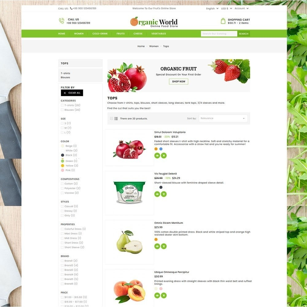 theme - Lebensmittel & Restaurants - Organic World Food Store - 4