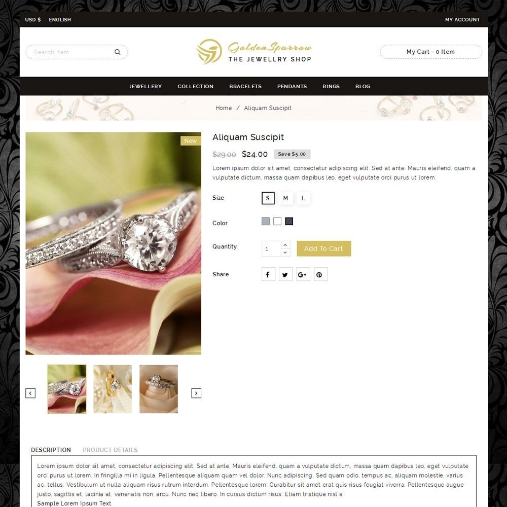 theme - Sieraden & Accessoires - Golden Sparrow - Jewelry Shop - 4