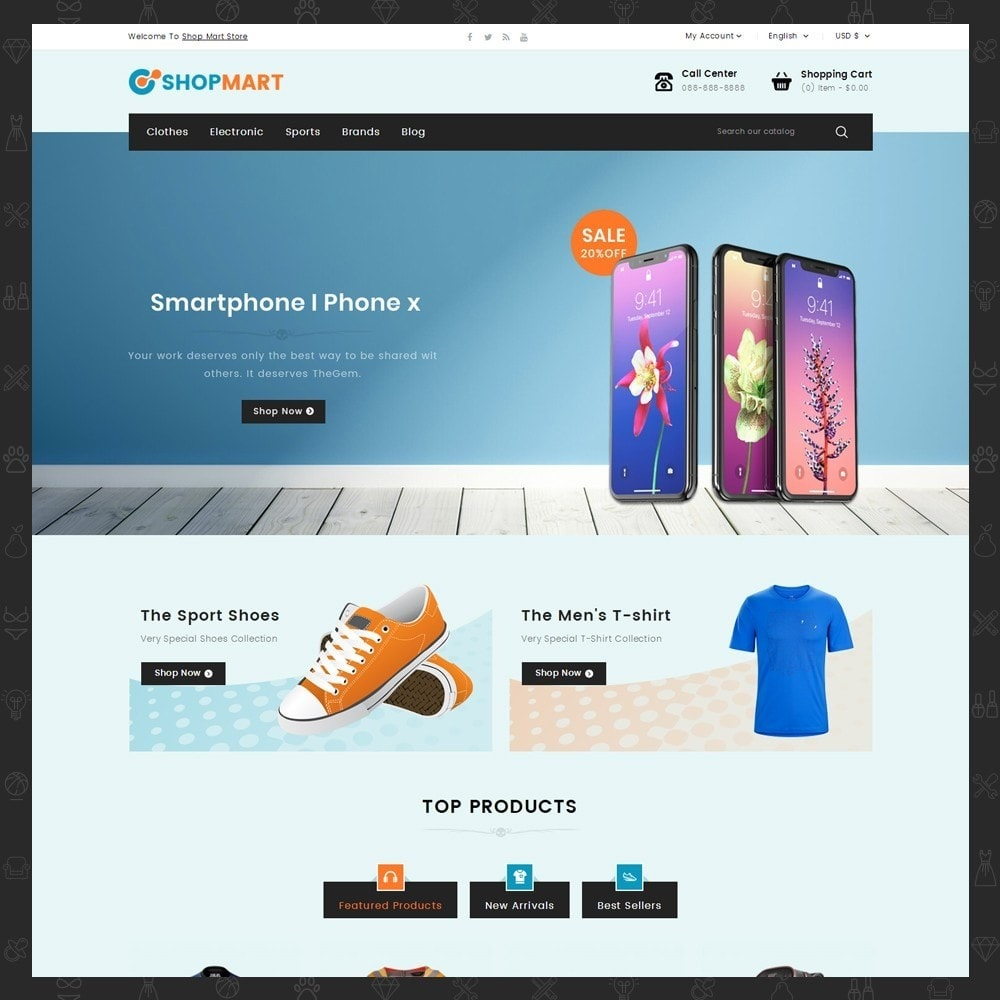 theme - Elektronica & High Tech - Shopmart - Mega Shop - 2