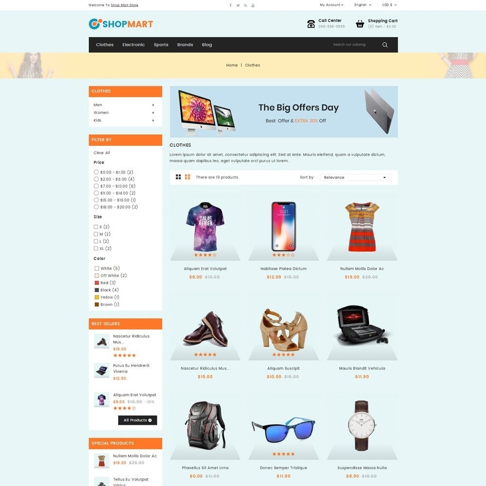theme - Электроника и компьютеры - Shopmart - Mega Shop - 3