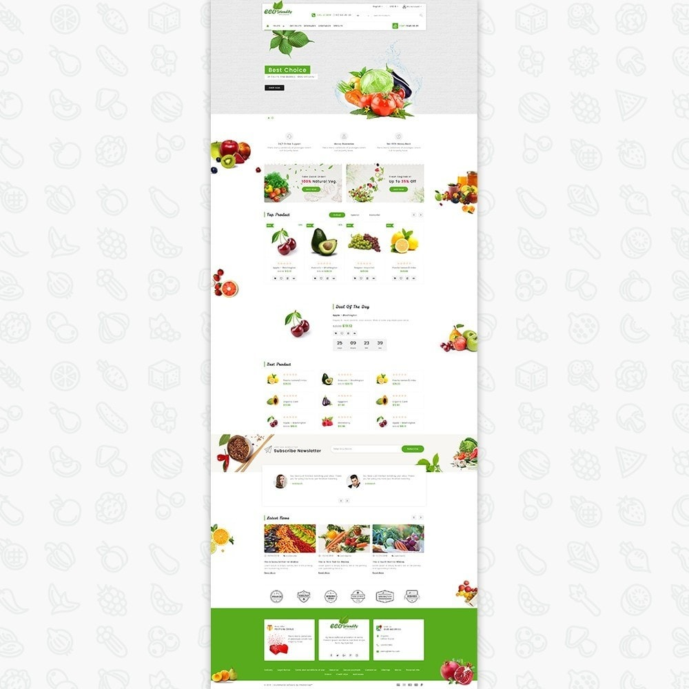 theme - Health & Beauty - Eco  - Friendly Organic Food Template - 2