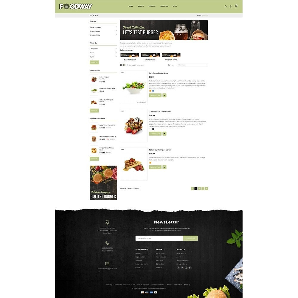 theme - Alimentation & Restauration - Foodway Demo Store - 4