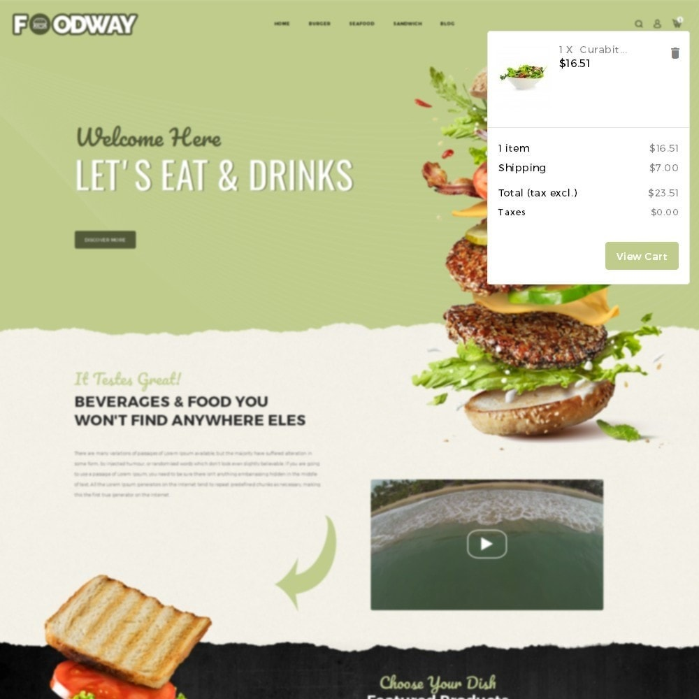 theme - Alimentation & Restauration - Foodway Demo Store - 7