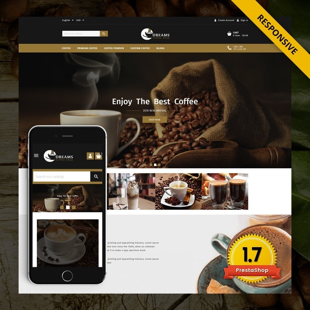 theme - Alimentation & Restauration - Dreams - Coffee Shop - 1