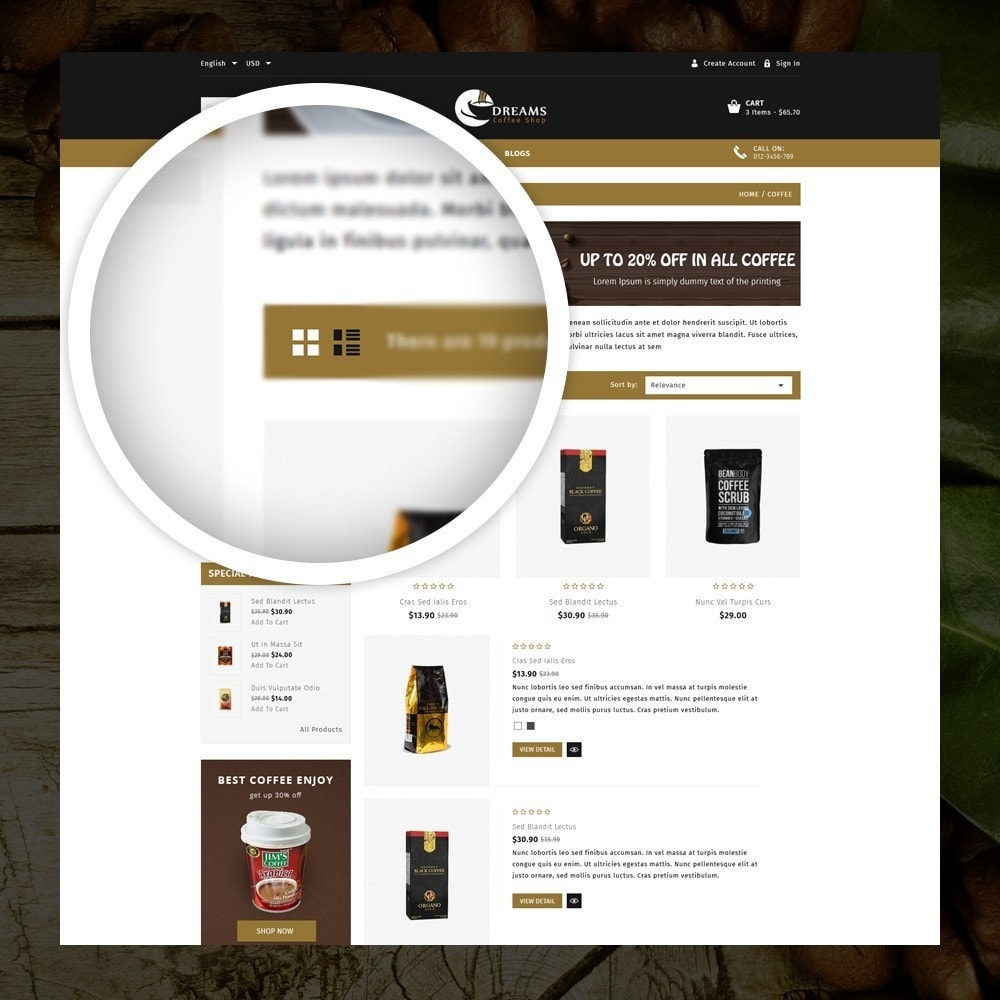 theme - Alimentation & Restauration - Dreams - Coffee Shop - 3