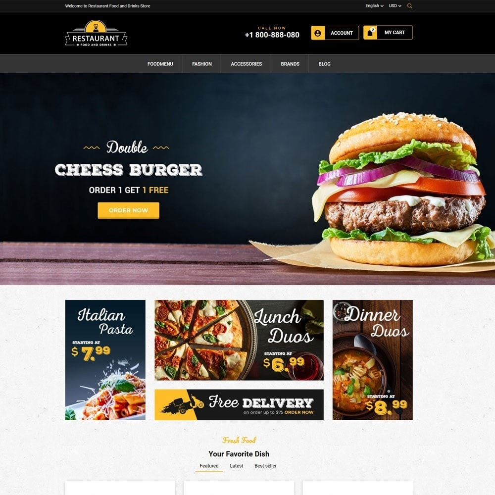 theme - Cibo & Ristorazione - Restaurant Food And Drinks Store - 2