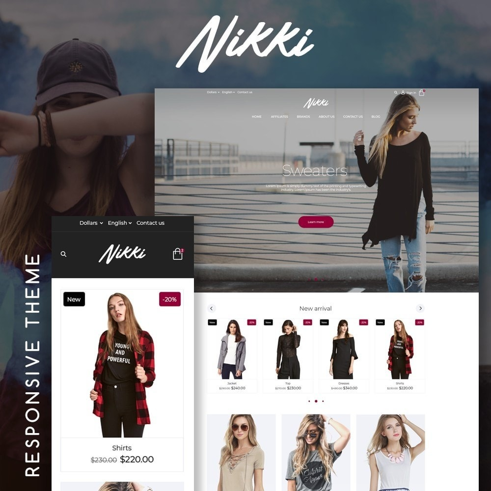theme - Mode & Chaussures - Nikki Fashion Store - 1