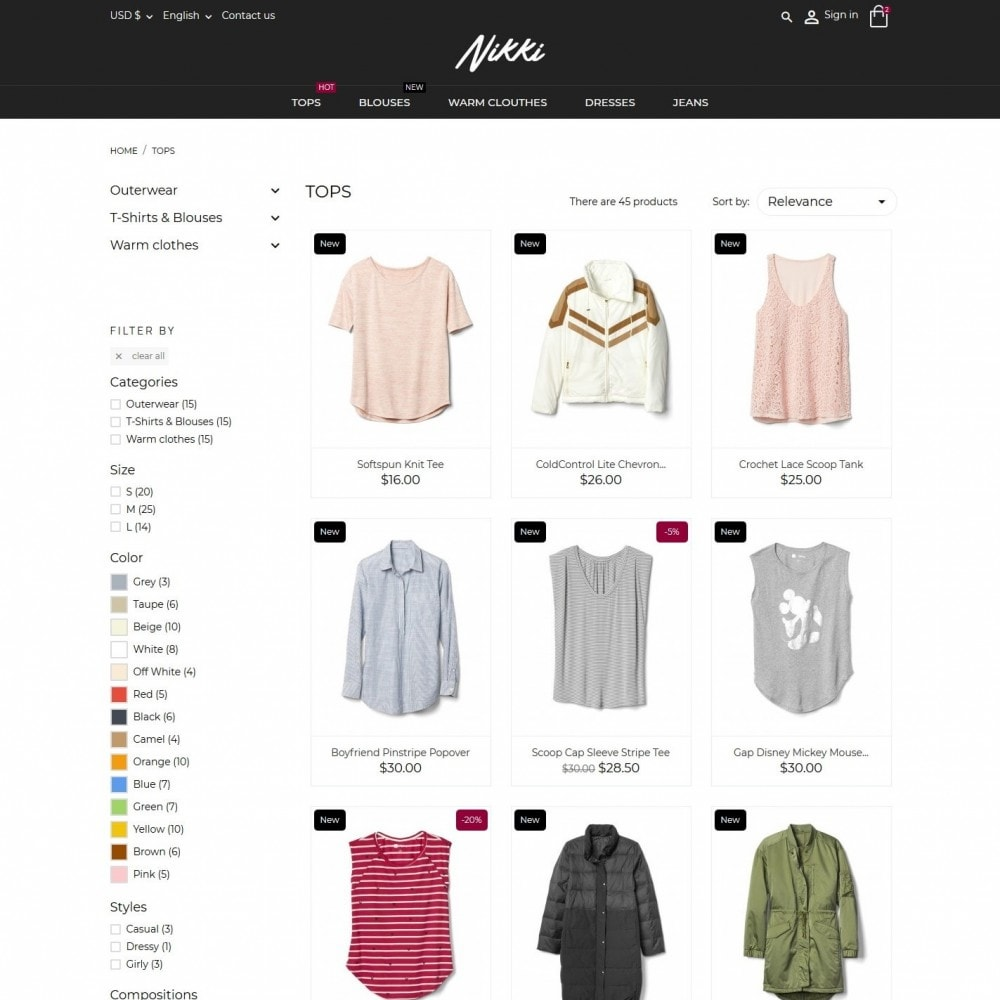 theme - Mode & Chaussures - Nikki Fashion Store - 5