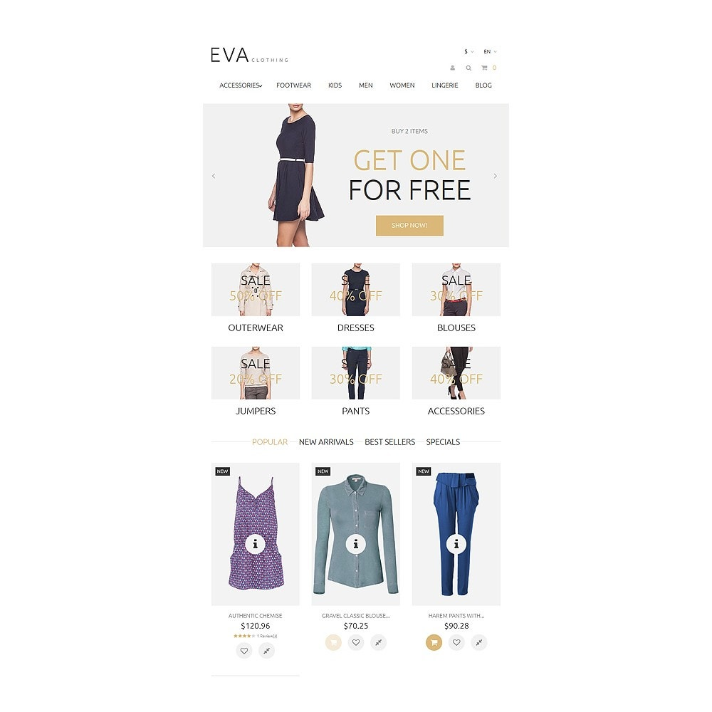 theme - Mode & Chaussures - EVA Clothing - 7
