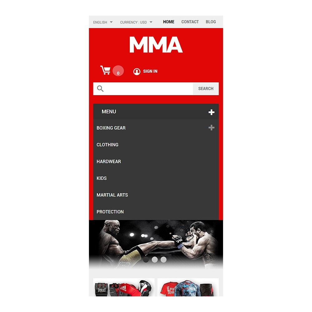 theme - Sports, Activities & Travel - MMA Outfit Store - 8