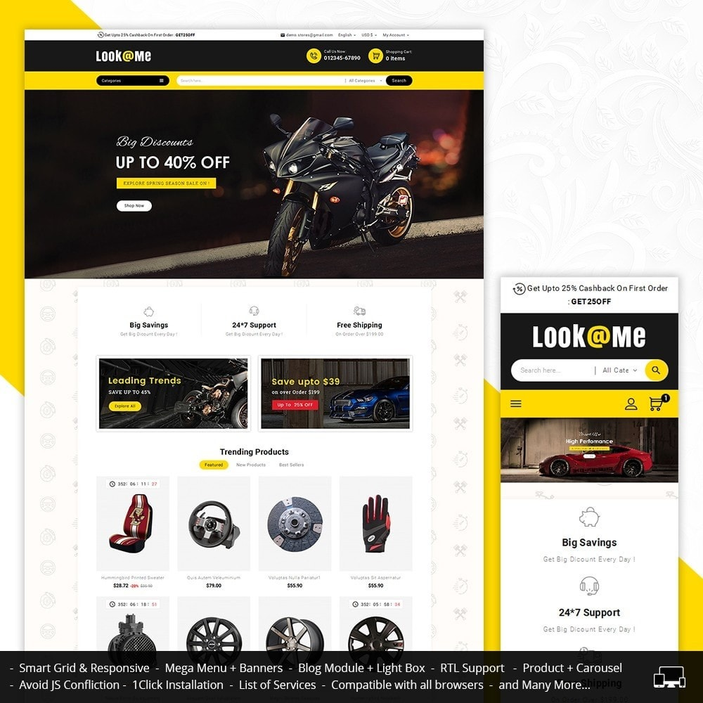 theme - Auto & Moto - Look me Auto Parts - 1