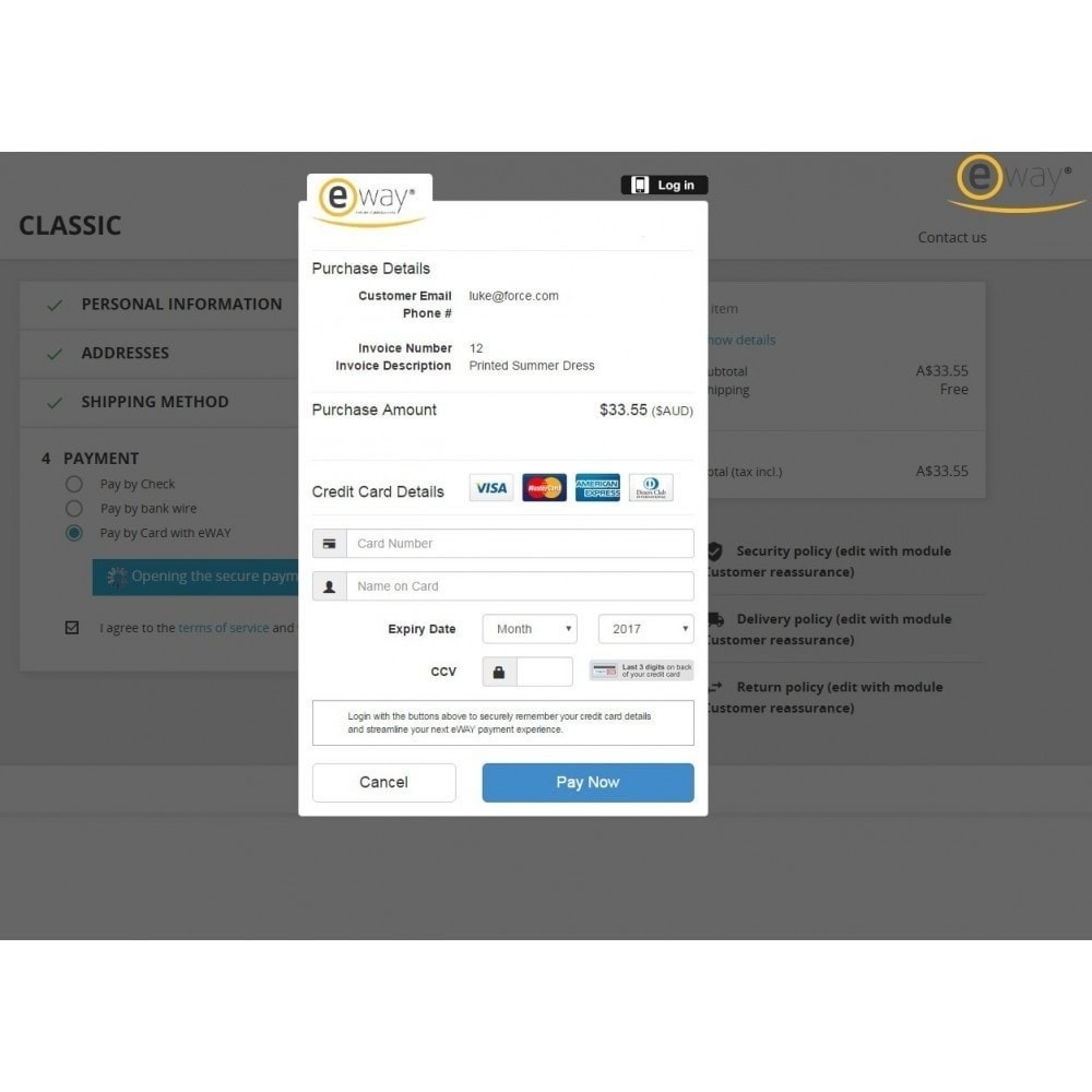 module - Creditcardbetaling of Walletbetaling - eWAY Online Payments - 3
