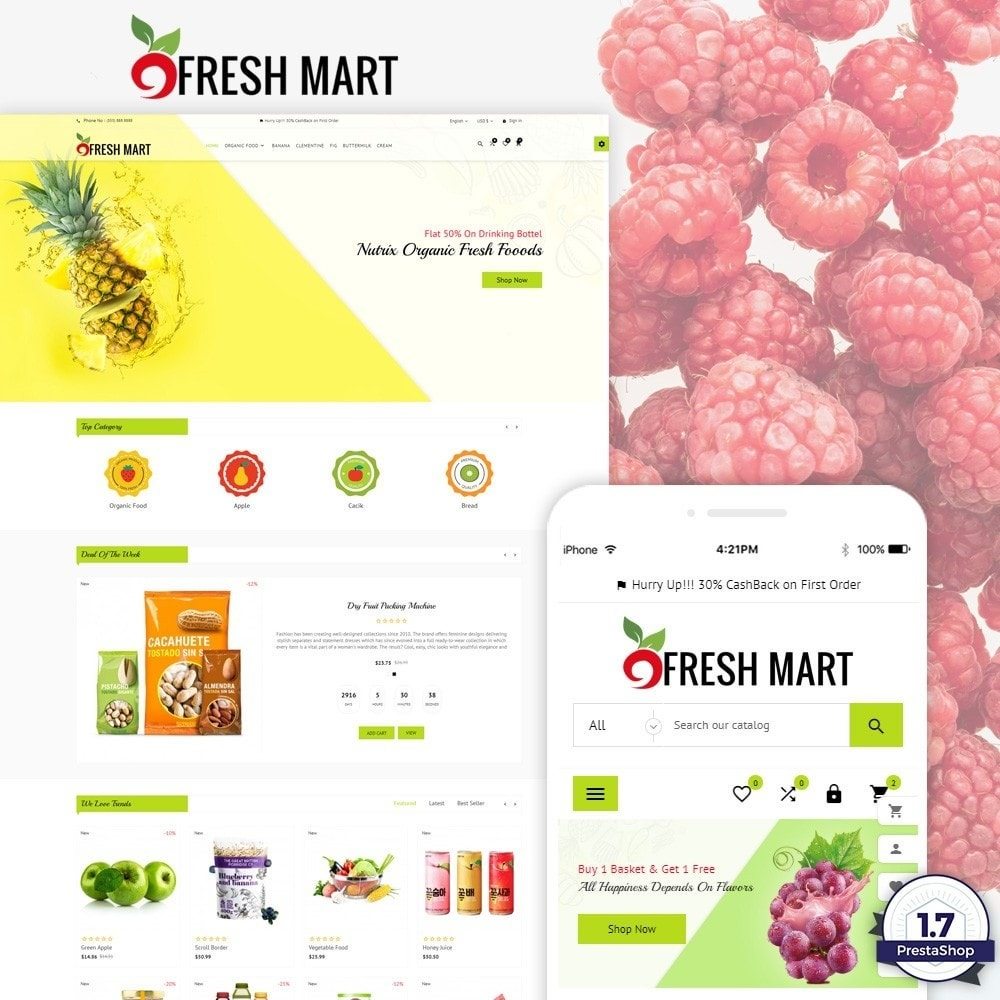 theme - Cibo & Ristorazione - Fresh Mart Organic Food Big Super Store - 1