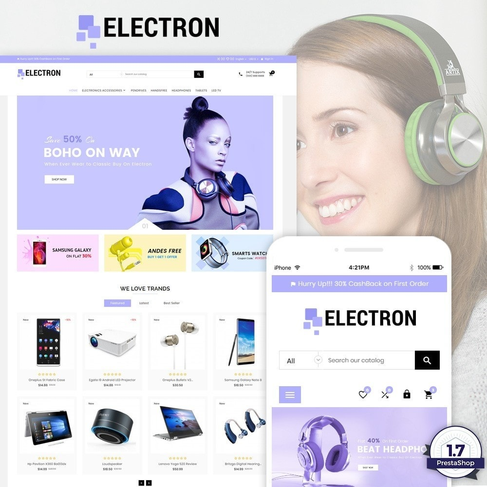 theme - Eletrônicos & High Tech - Electron – Electronics and Digital Super Store - 1