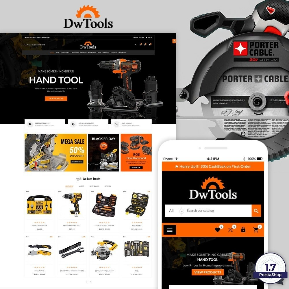 theme - Coches y Motos - DW Tools – Tools and Machine Super Store - 1