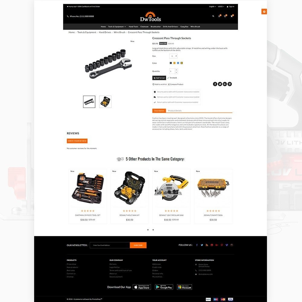 theme - Auto's & Motoren - DW Tools – Tools and Machine Super Store - 4