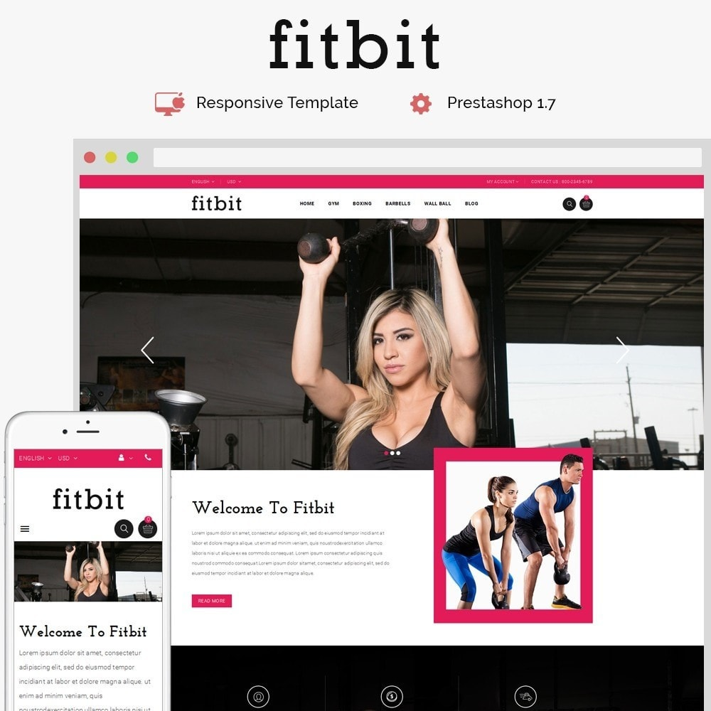 theme - Health & Beauty - Fitbit Fitness Store - 1