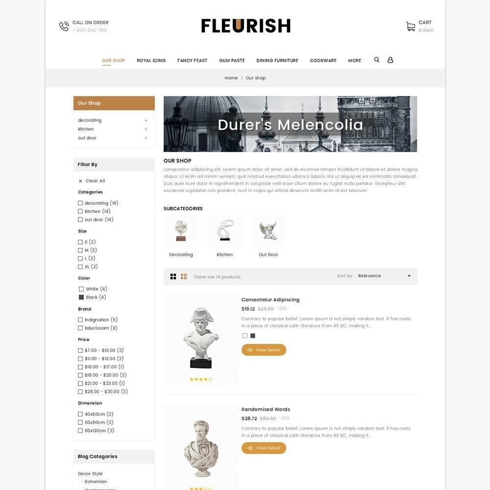 theme - Искусство и Культура - Fleurish - Art Shop - 5