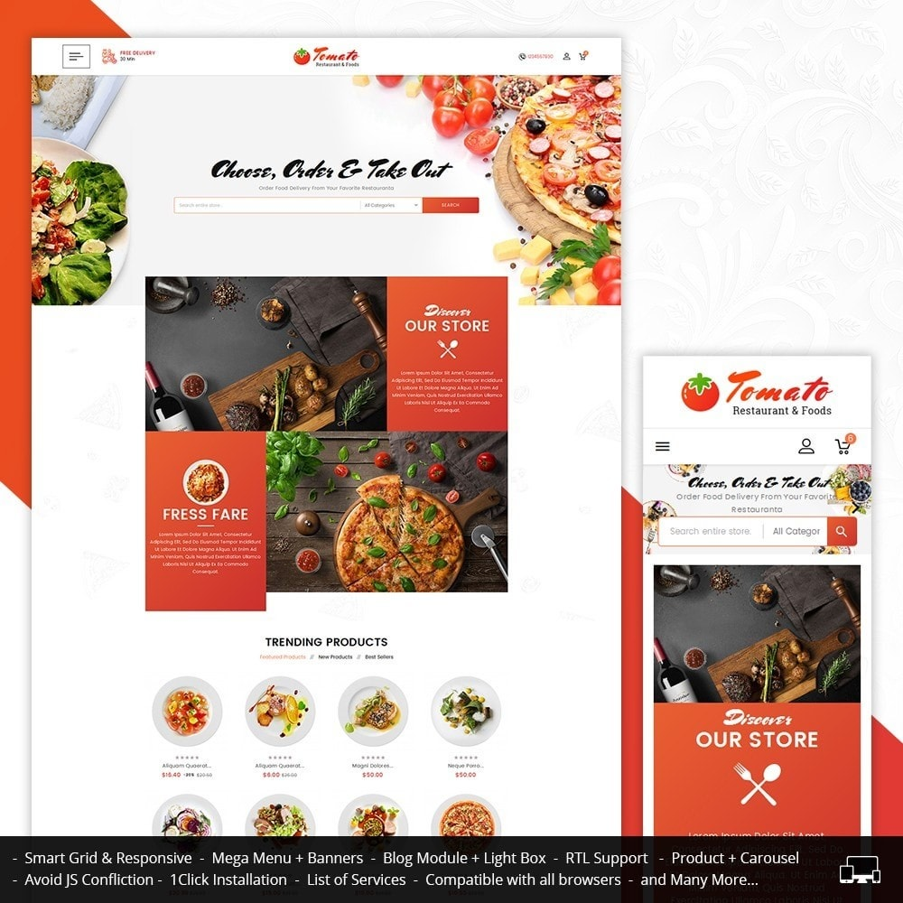 theme - Alimentation & Restauration - Tomato Food & Restaurant - 1