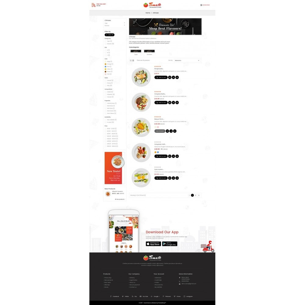 theme - Alimentation & Restauration - Tomato Food & Restaurant - 4