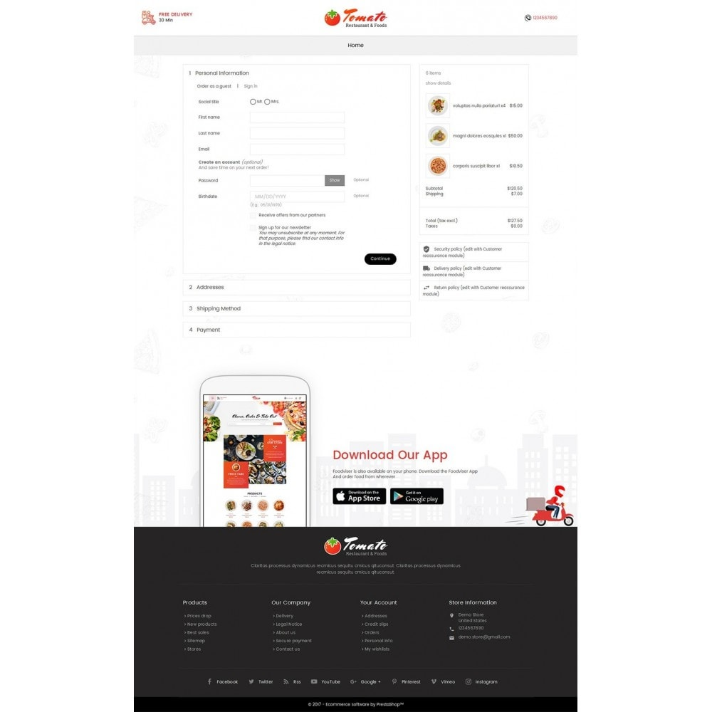 theme - Alimentation & Restauration - Tomato Food & Restaurant - 7