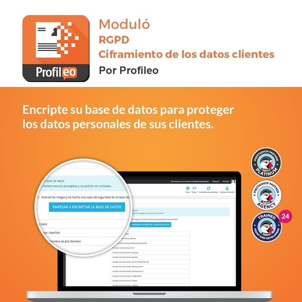 module - Marco Legal (Ley Europea) - RGPD - Ciframiento de los datos clientes - 1