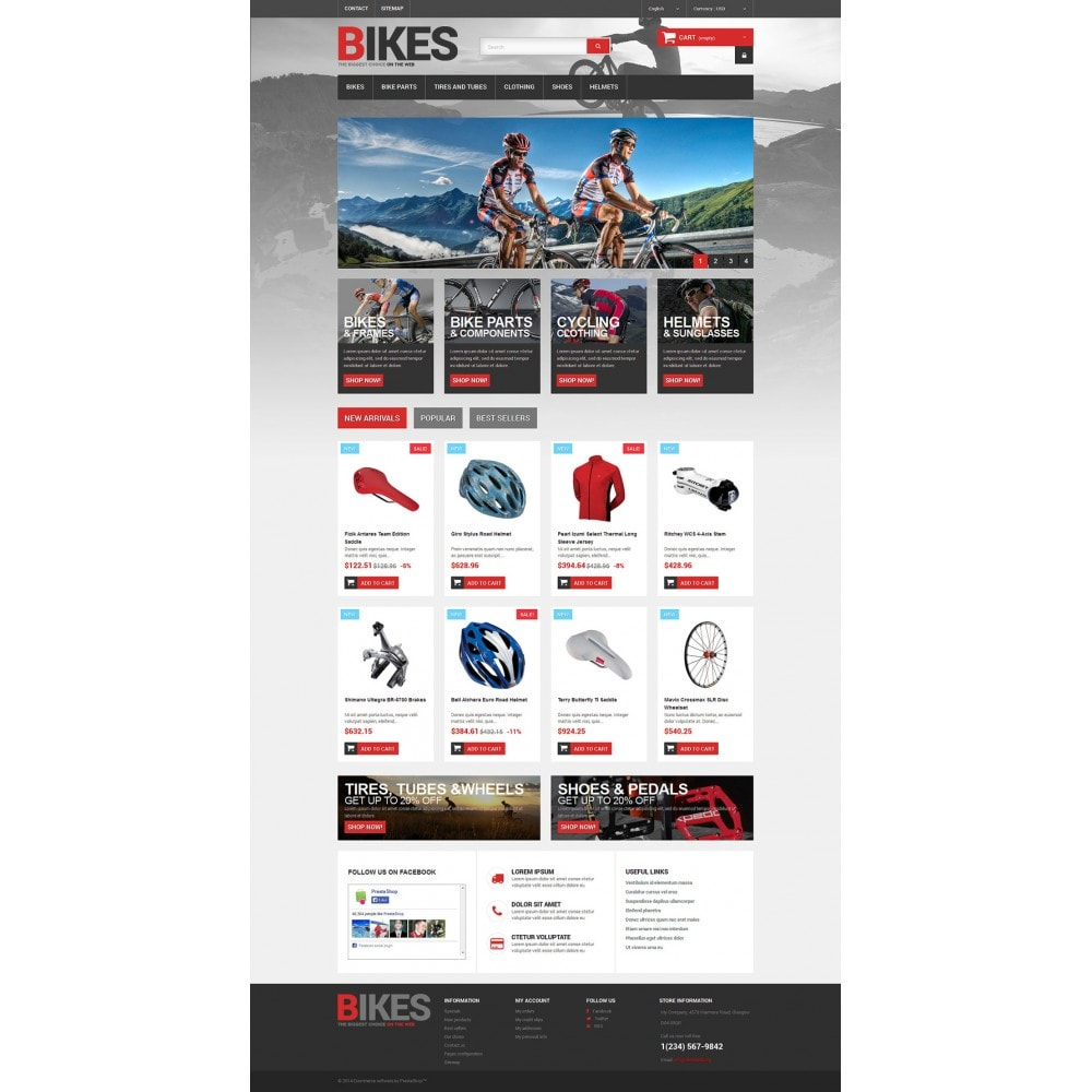 theme - Sports, Activities & Travel - Bikes Store - 2