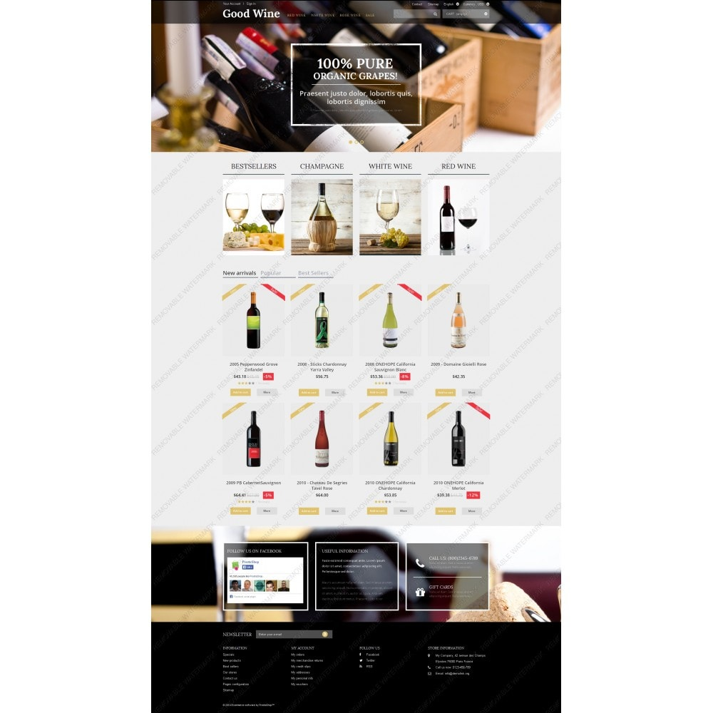 theme - Продовольствие и рестораны - Wine of Superior Quality - 3