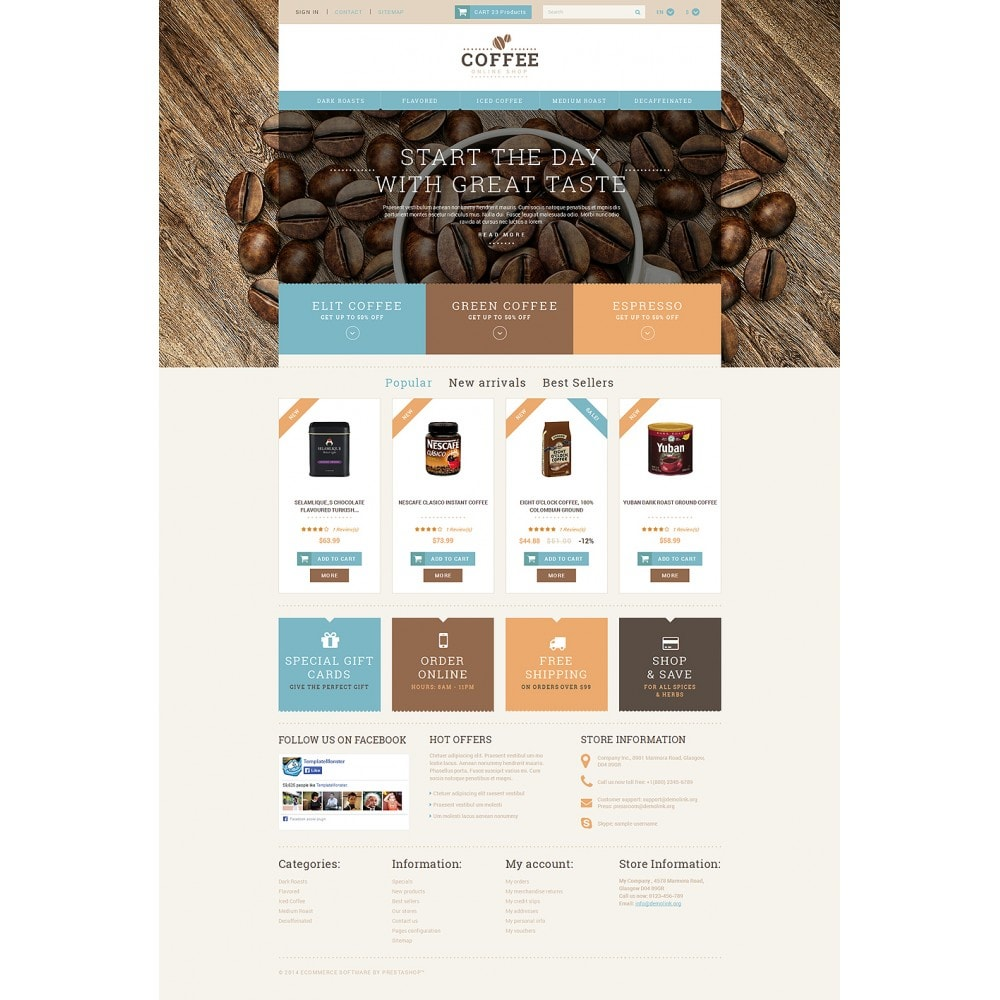 theme - Cibo & Ristorazione - White PrestaShop Theme by WT - 2