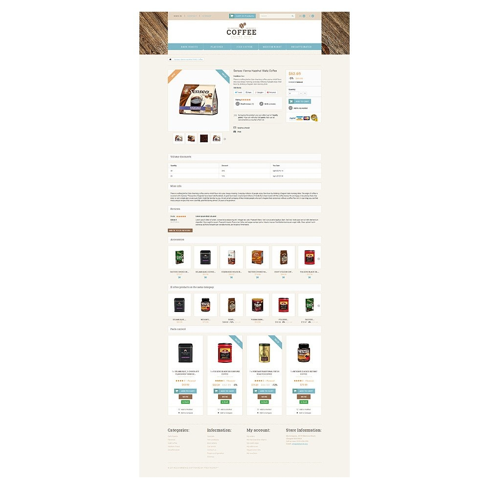 theme - Alimentation & Restauration - White PrestaShop Theme by WT - 6