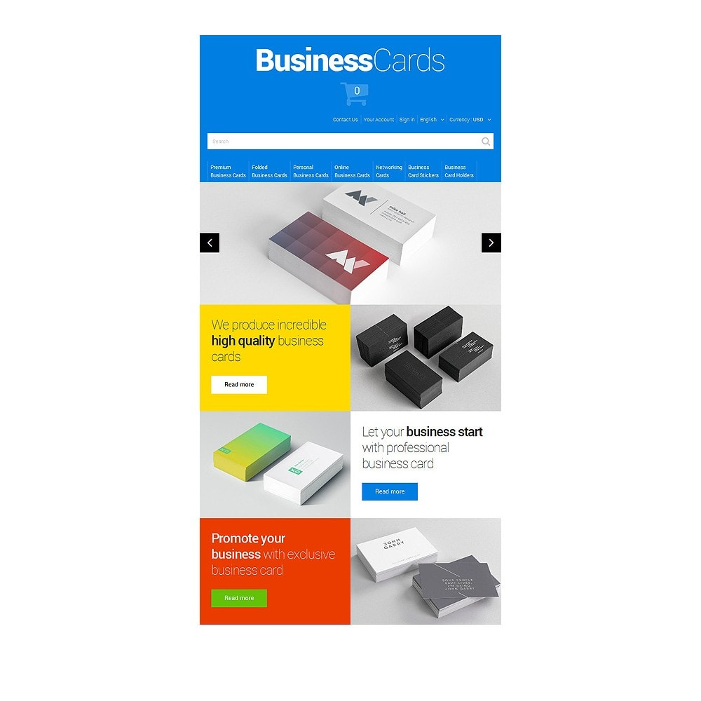 theme - Template PrestaShop - Business Cards - 7