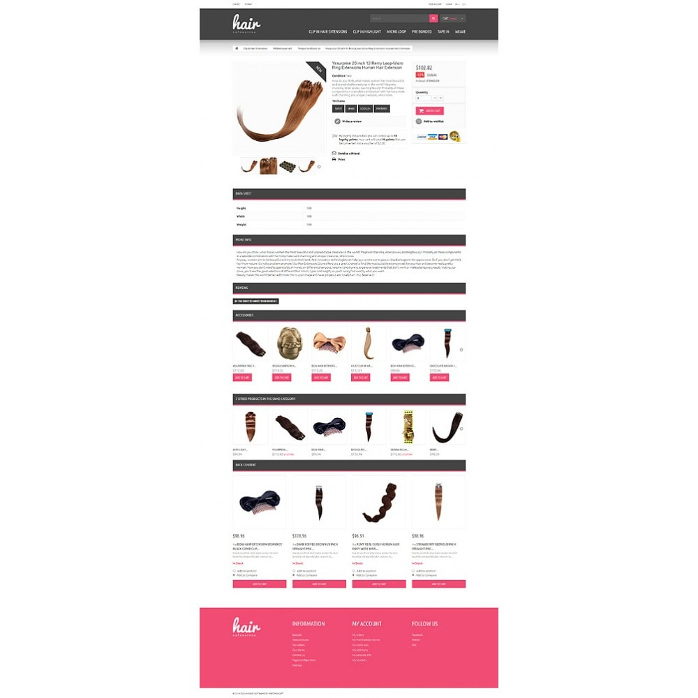 theme - Fashion & Shoes - Hair Extensions Store - 6