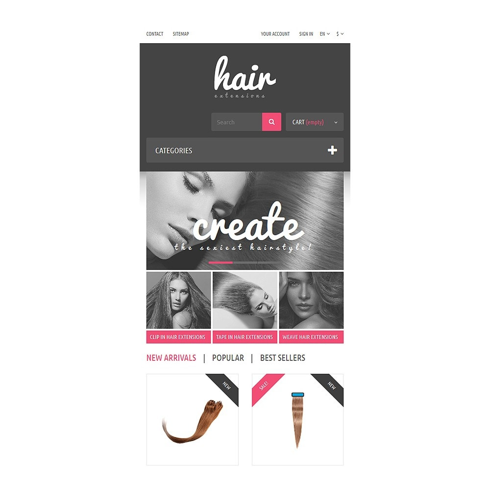 theme - Mode & Schoenen - Hair Extensions Store - 8