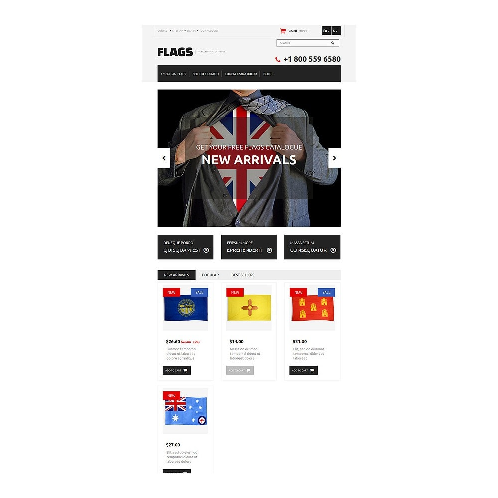 theme - PrestaShop thema's - Flag Shop - 7