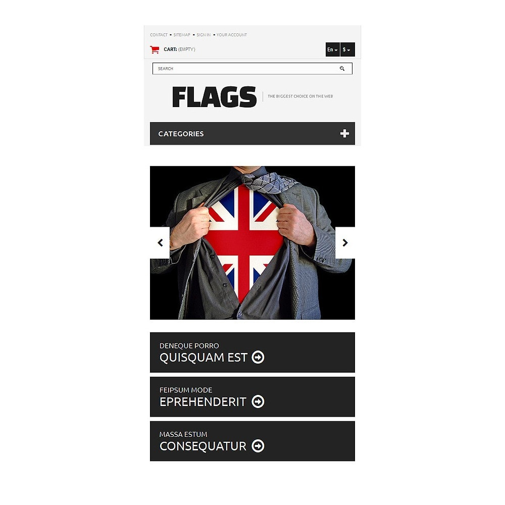 theme - PrestaShop thema's - Flag Shop - 8