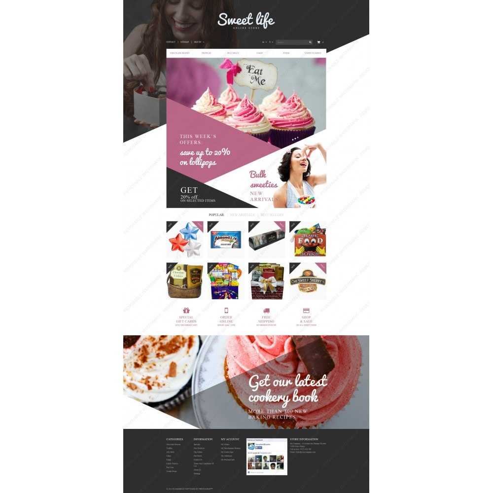 theme - Lebensmittel & Restaurants - Sweets Shop - 3