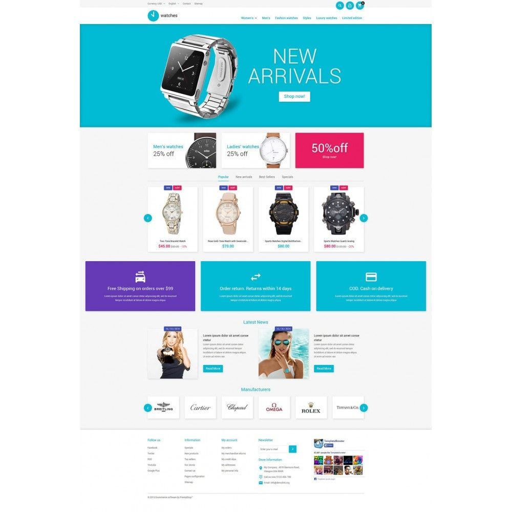 theme - Fashion & Shoes - Watches Store - 2
