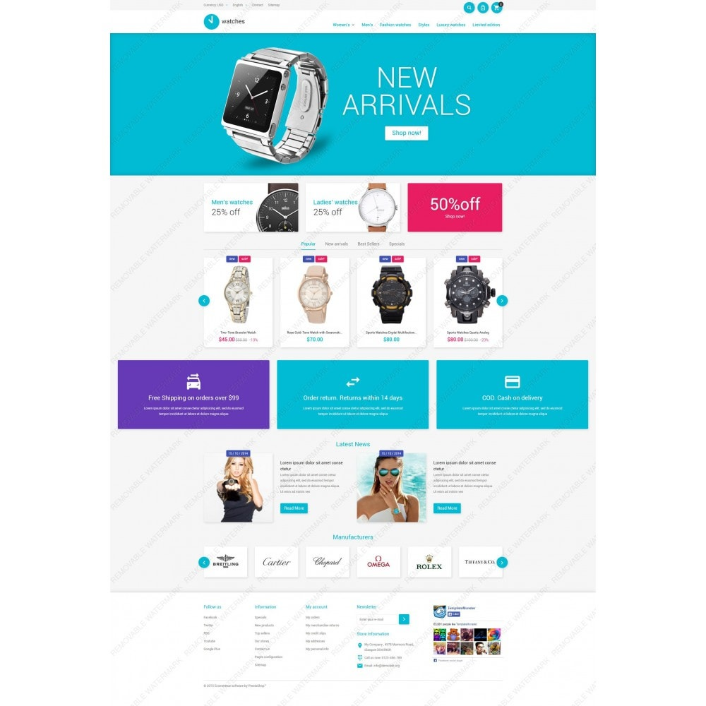 theme - Fashion & Shoes - Watches Store - 5