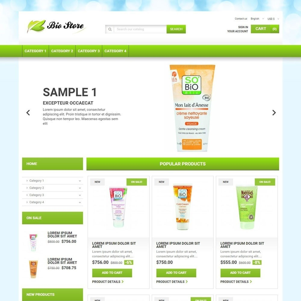 theme - Health & Beauty - BioStore - 1