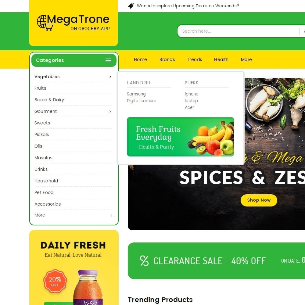 theme - Alimentation & Restauration - Mega Trone Grocery - 10
