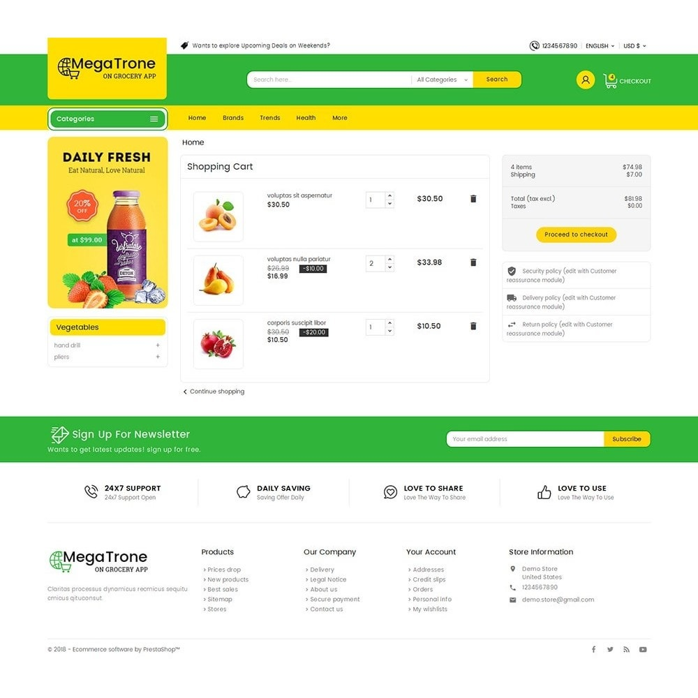 theme - Cibo & Ristorazione - Mega Trone Grocery - 7
