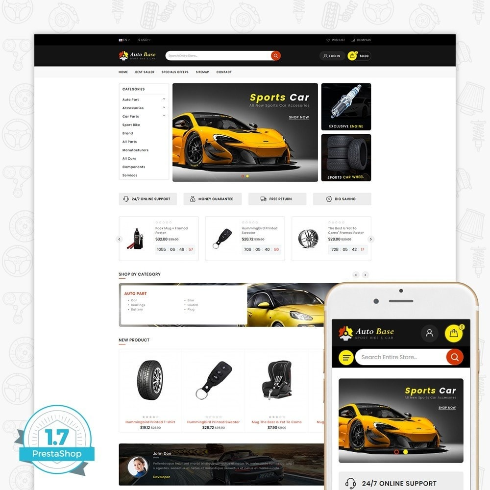 theme - Auto & Moto - Autobase - Sport Bike & Car - 1
