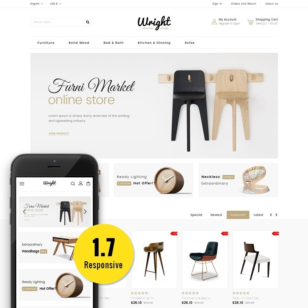 theme - Dom & Ogród - Wright Furniture Store - 1
