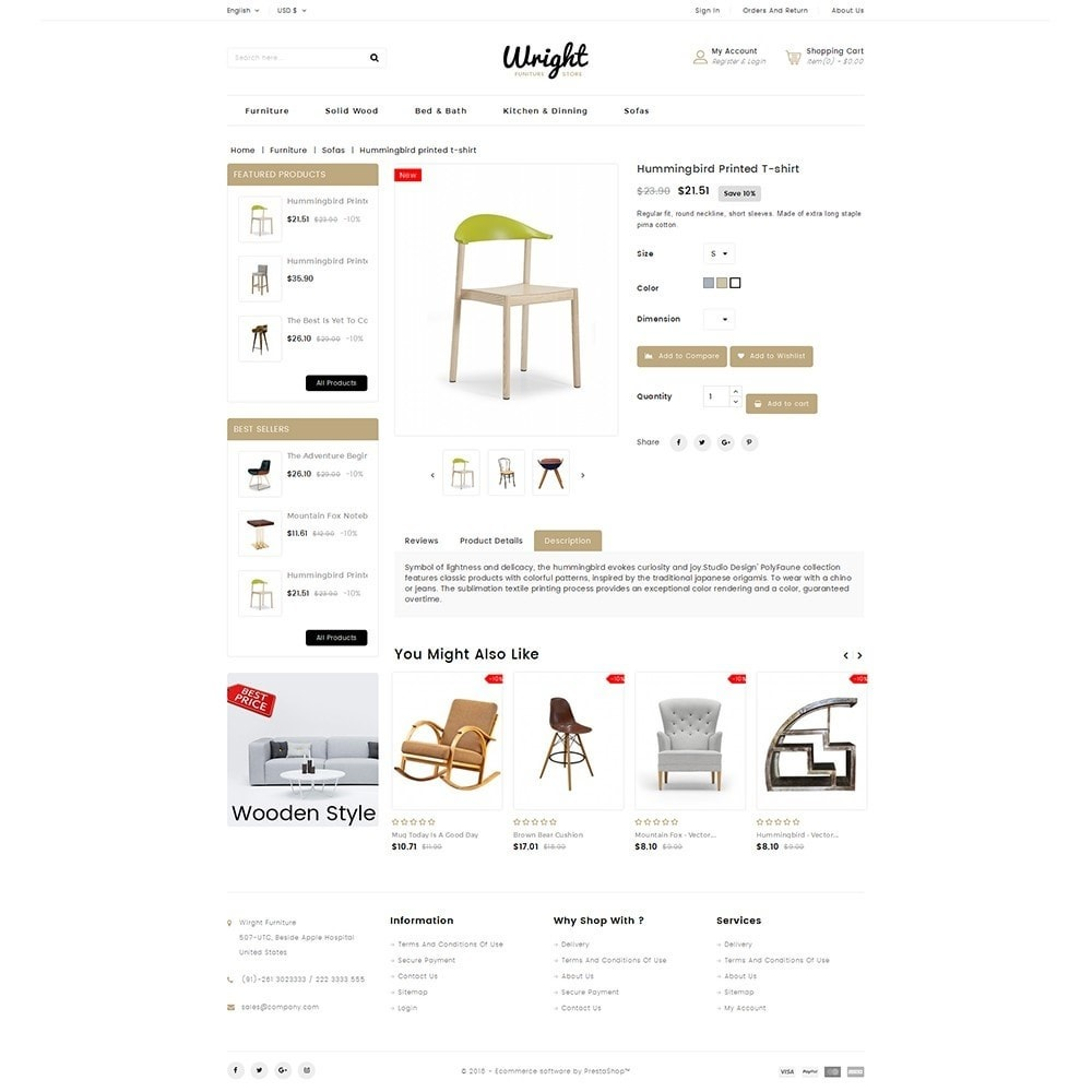 theme - Дом и сад - Wright Furniture Store - 5