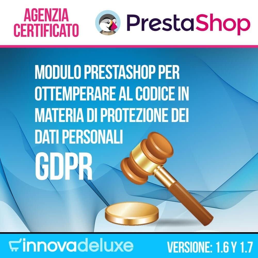 module - Legale (Legge Europea) - Codice in materia di Protezione dei Dati Personali RGPD - 1