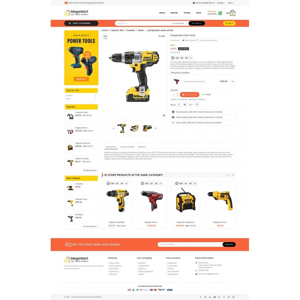 theme - Electrónica e High Tech - Mega Mart Tools Equipment - 6