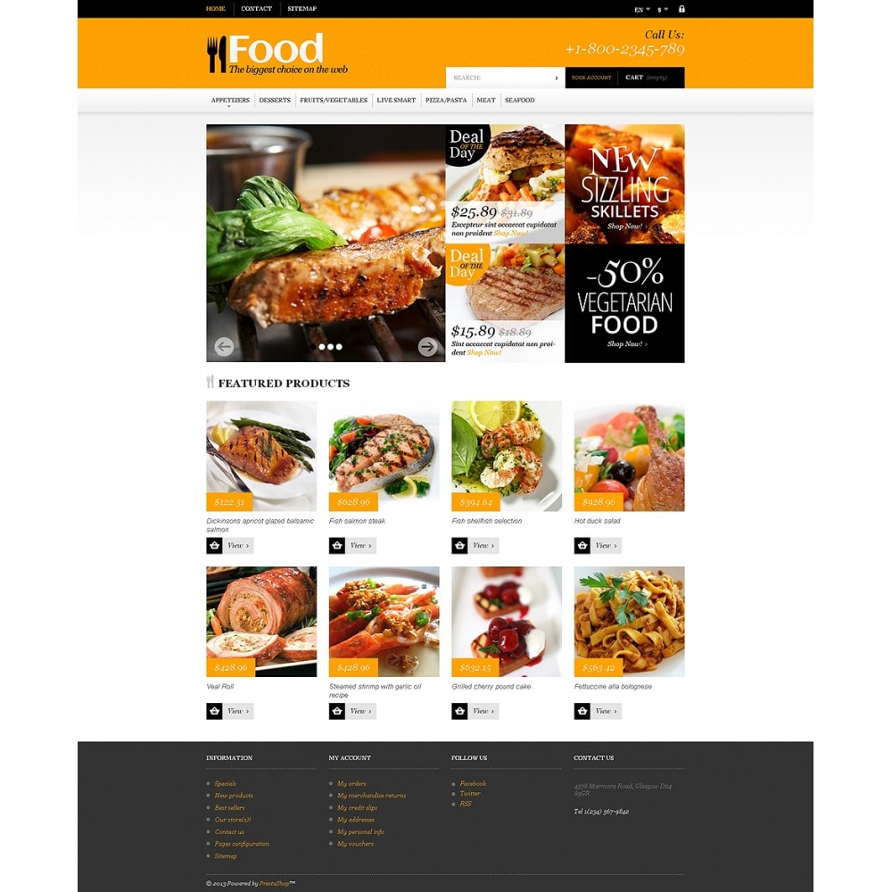 theme - Lebensmittel & Restaurants - Online Orders of Meals - 2