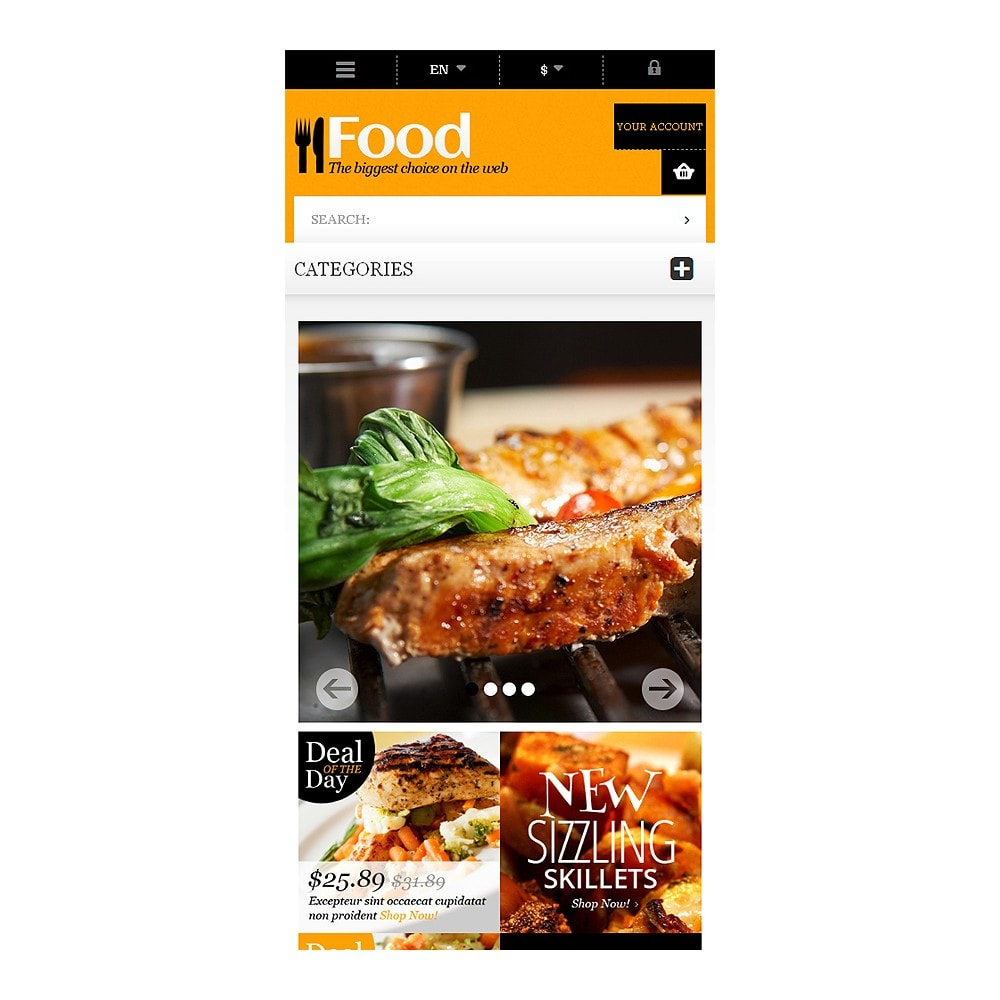 theme - Lebensmittel & Restaurants - Online Orders of Meals - 8