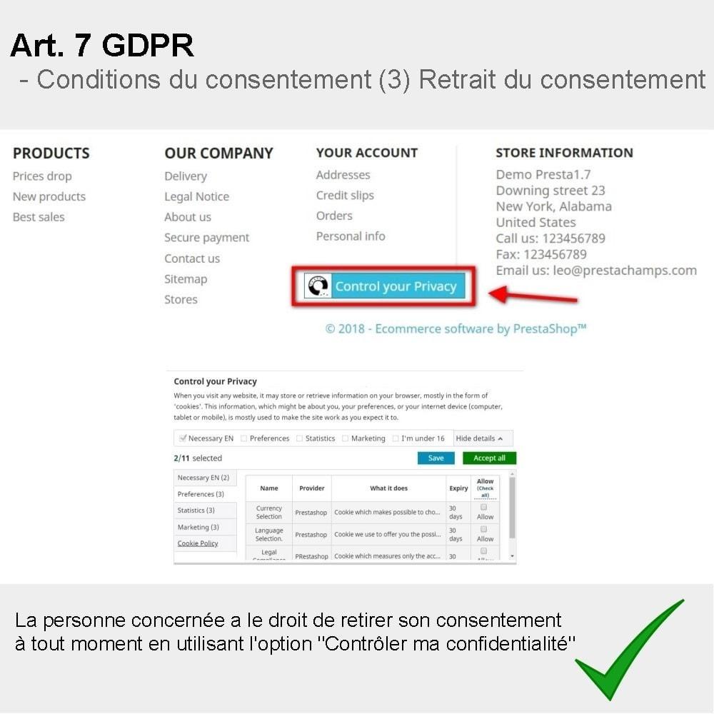 module - Législation - GDPR Compliance Pro - 2021 Édition améliorée - 3