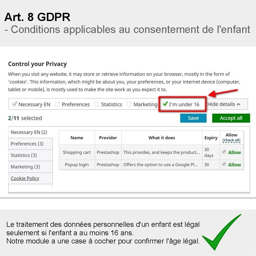 module - Législation - GDPR Compliance Pro - 4